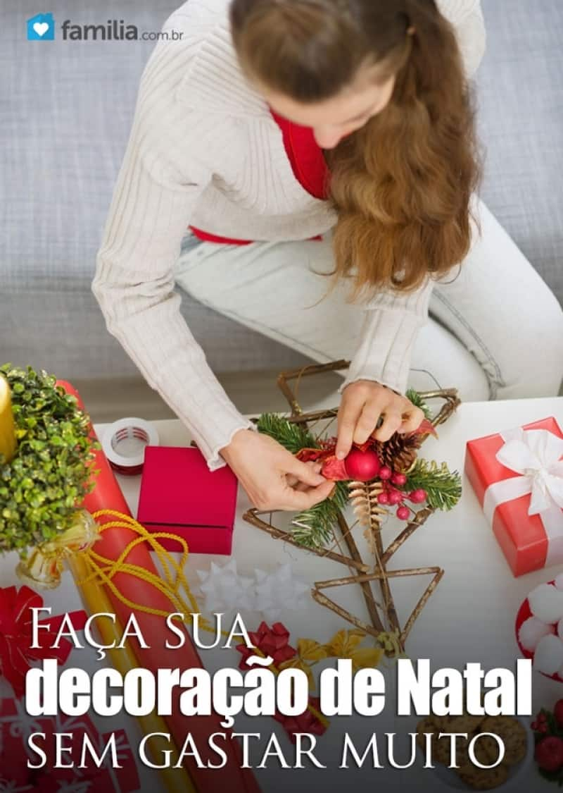Ideias simples de decoraç u00e3o de Natal Familia # Decoração De Natal Simples Escola