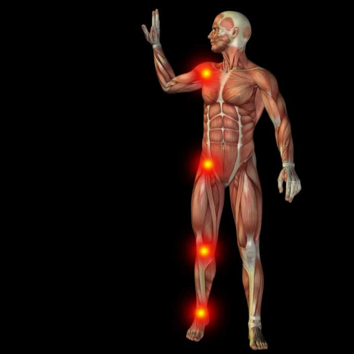 Súbita esquerda coxa interna na dor da parte